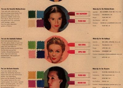 Helena Rubinstein Color Chart